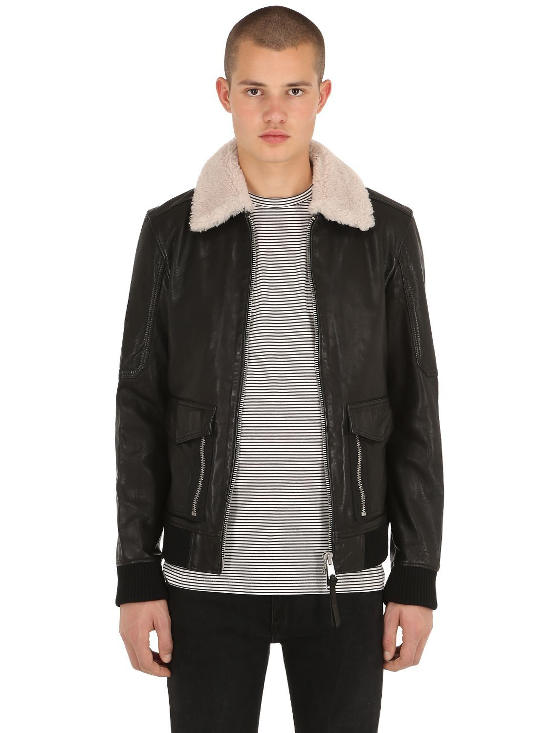 all saints aviator jacket