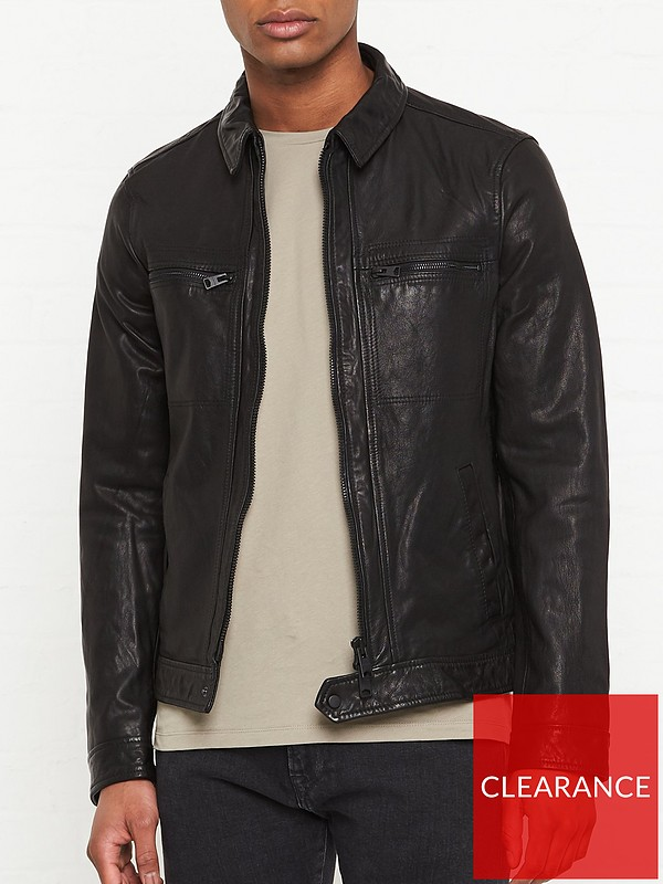 all saints lark leather jacket