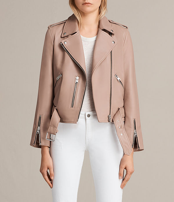 all saints leather jacket womens