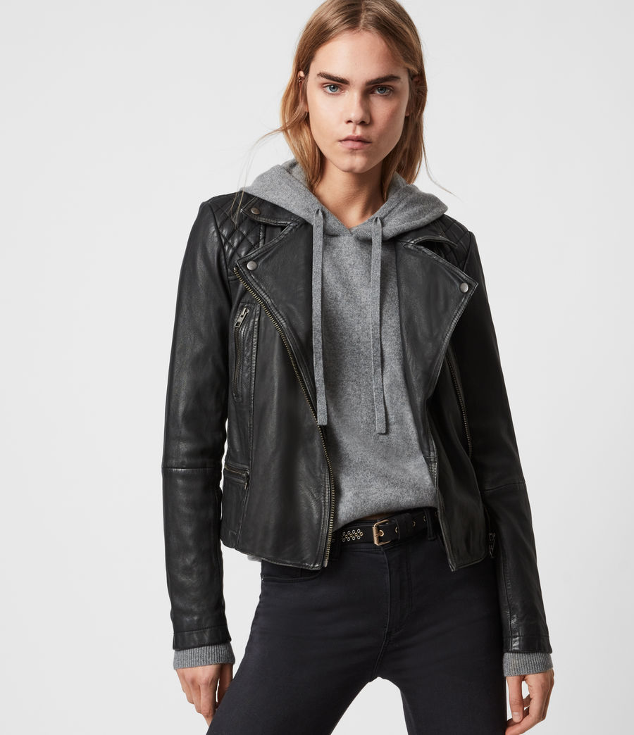 allsaints leather jacket sale