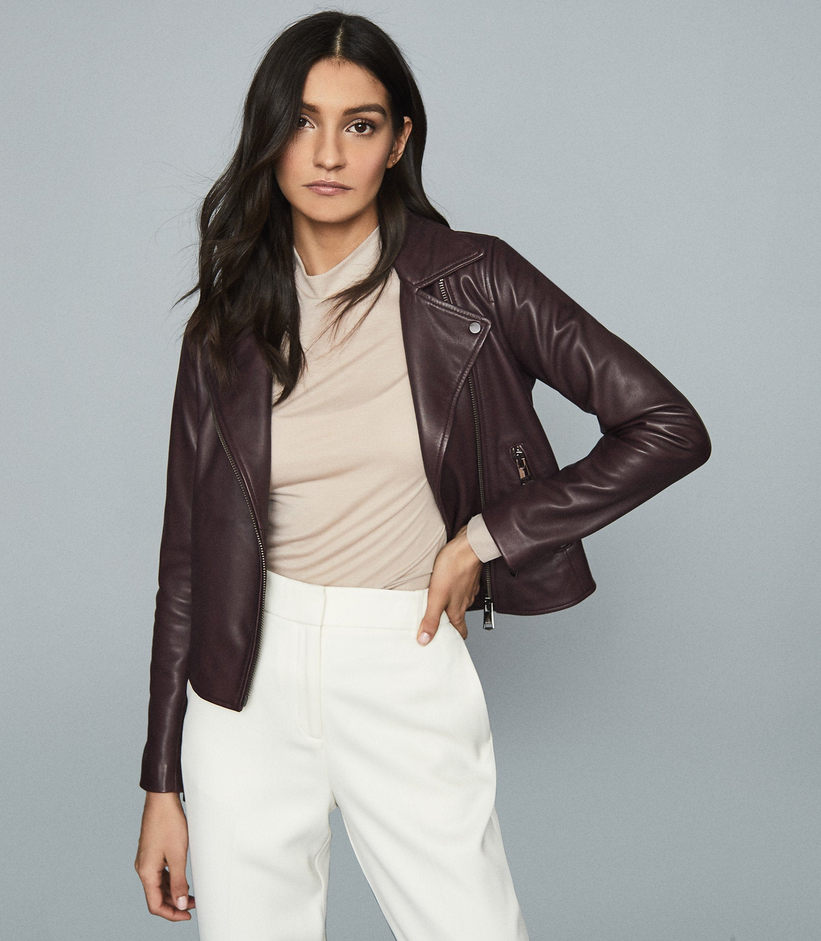 leather jacket reiss