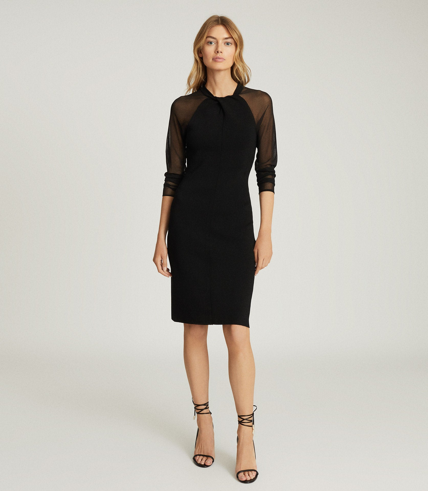 reiss black dress