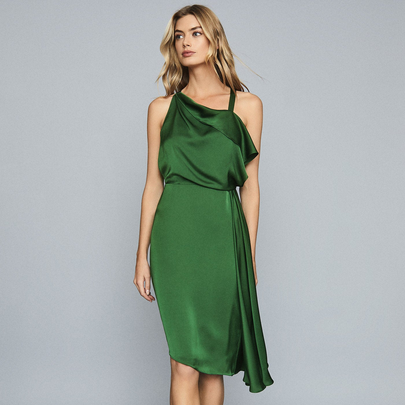 reiss green dress