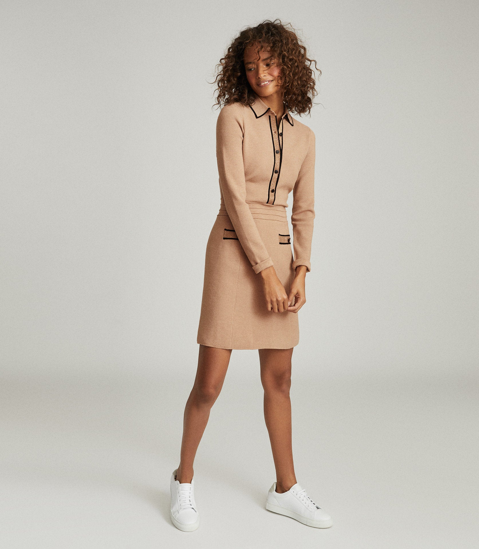 reiss knitted dress