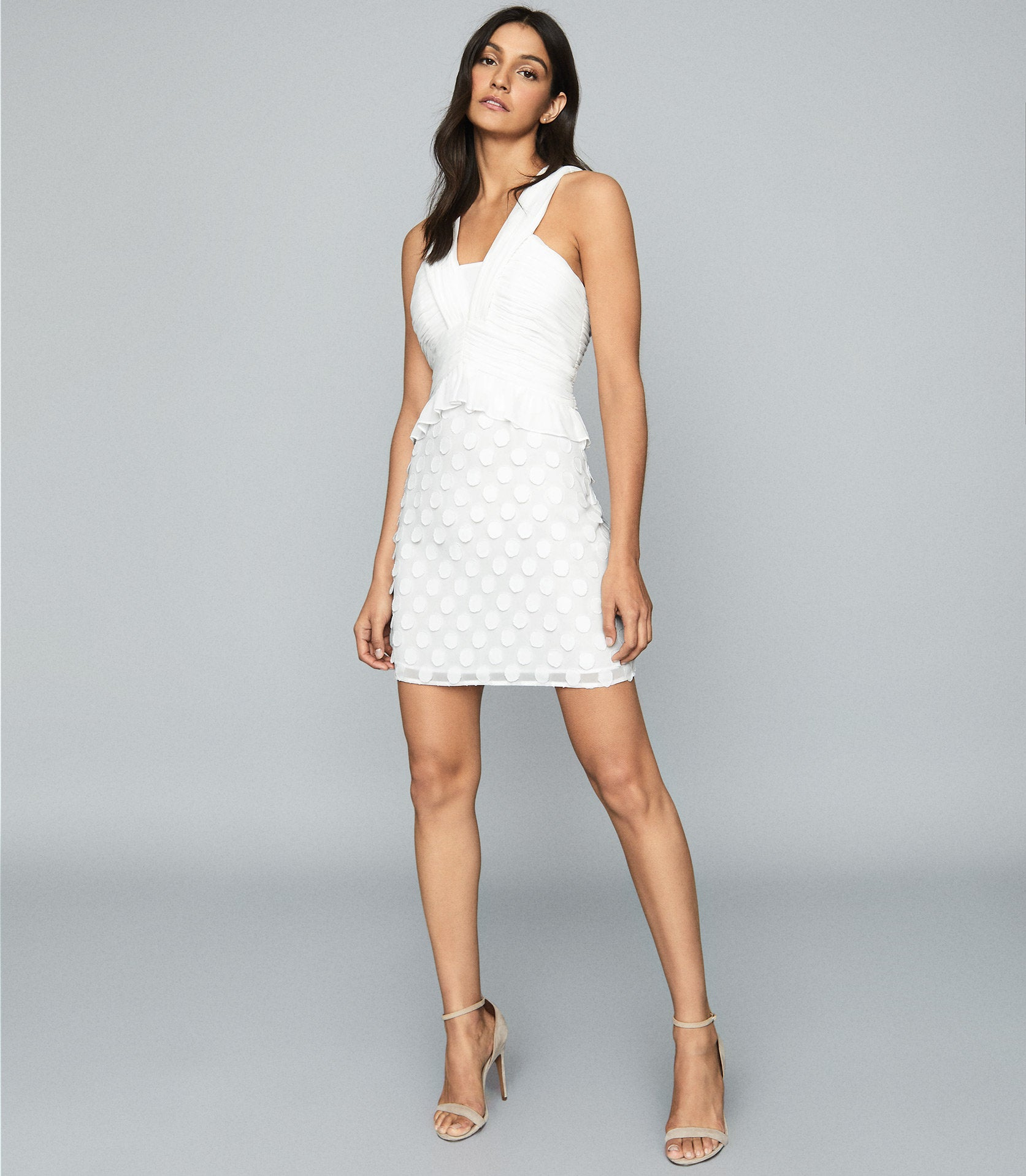 reiss white dress