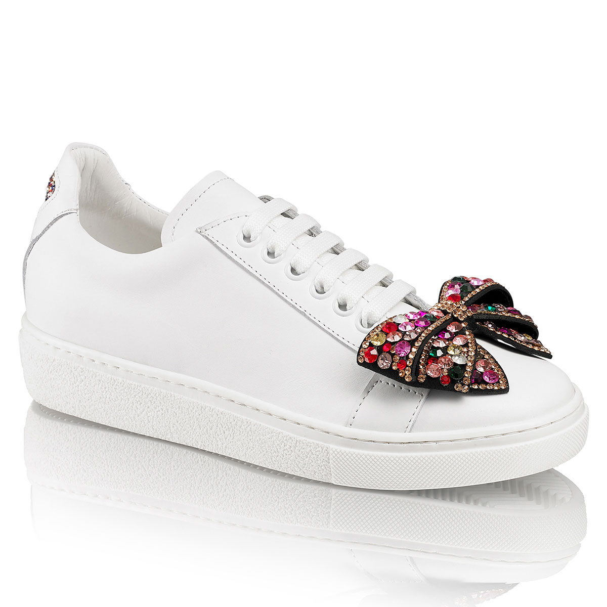 russell and bromley white trainers